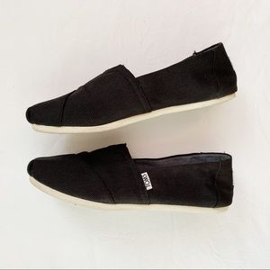 Classic Black Toms Slip Ons